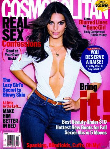 Emily Ratajkowski Cosmopolitan Magazine November 2014 Issue