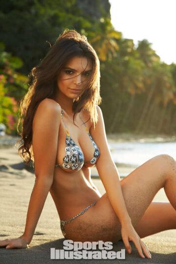 Emily Ratajkowski In Body Paint Bikini
