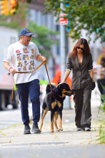Emily Ratajkowski Sebastian Bear Mcclard Out With Their Dog New York