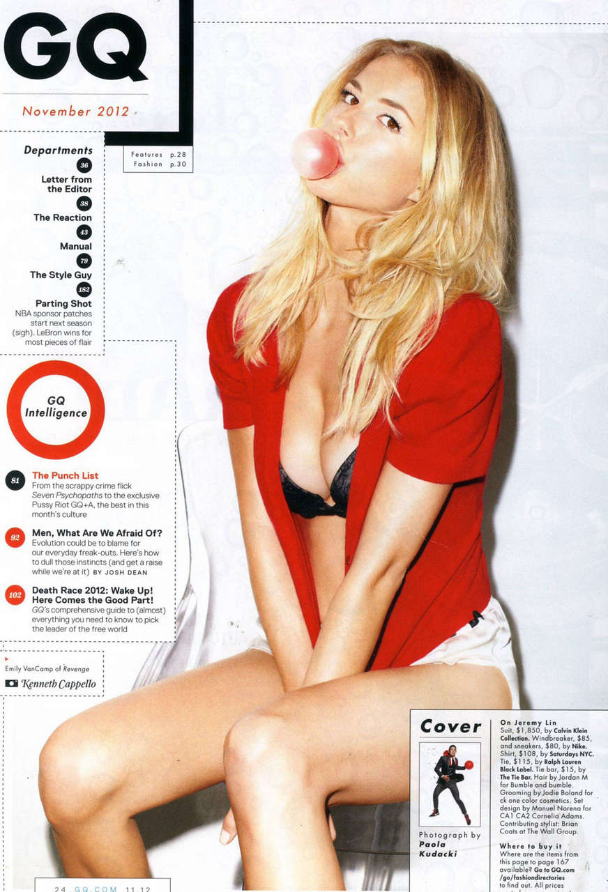 Emily Vancamp Gq Magazine November 2012 Issue