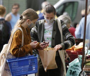 Emma Corrin Shopping Farmers Market London