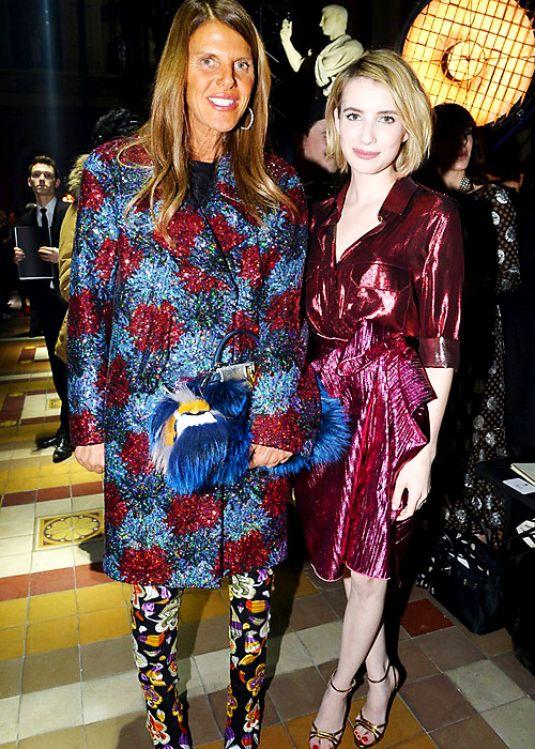Emma Roberts Lanvin Fashion Show Paris