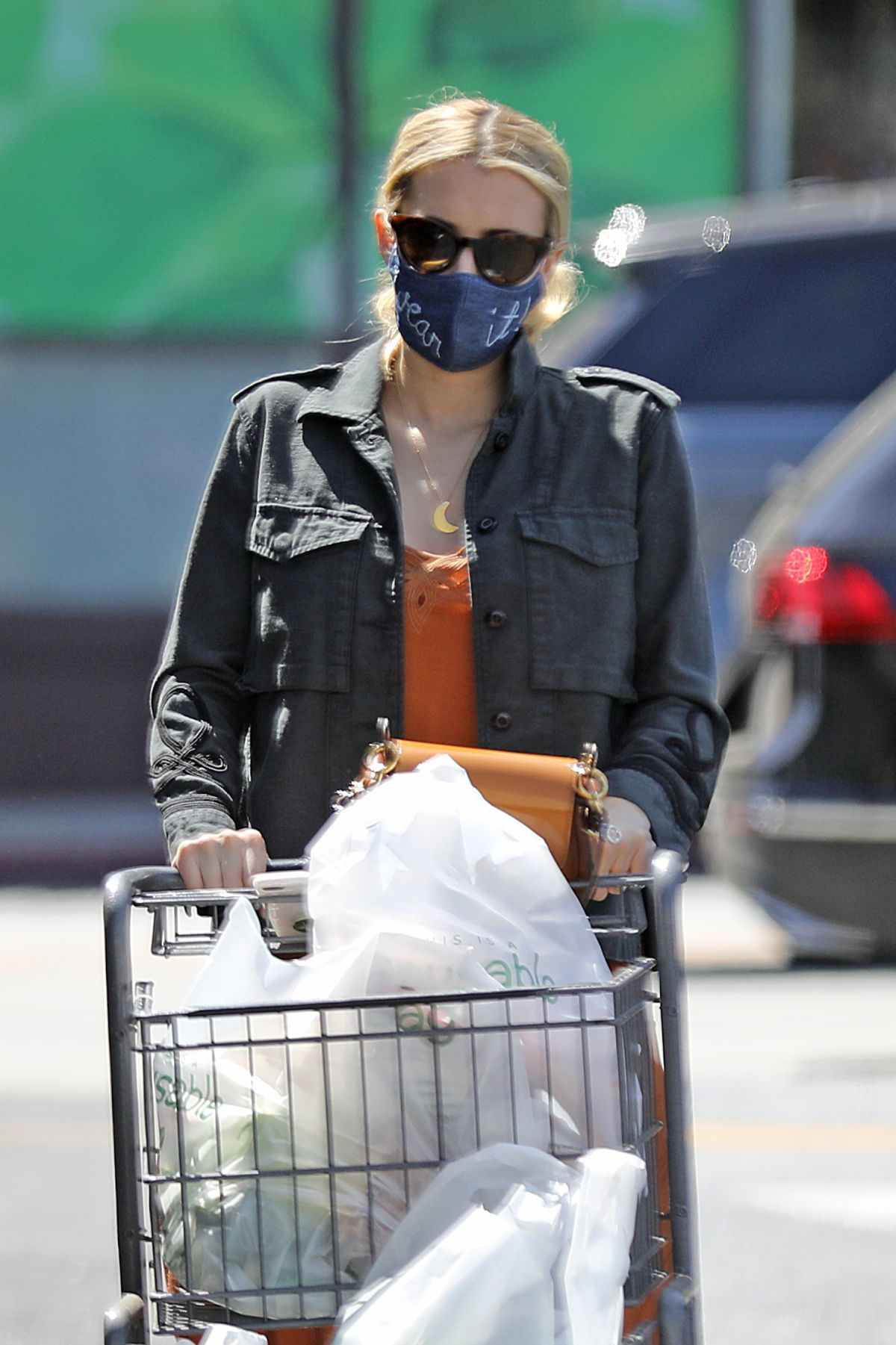 Emma Roberts Out Shopping Los Angeles