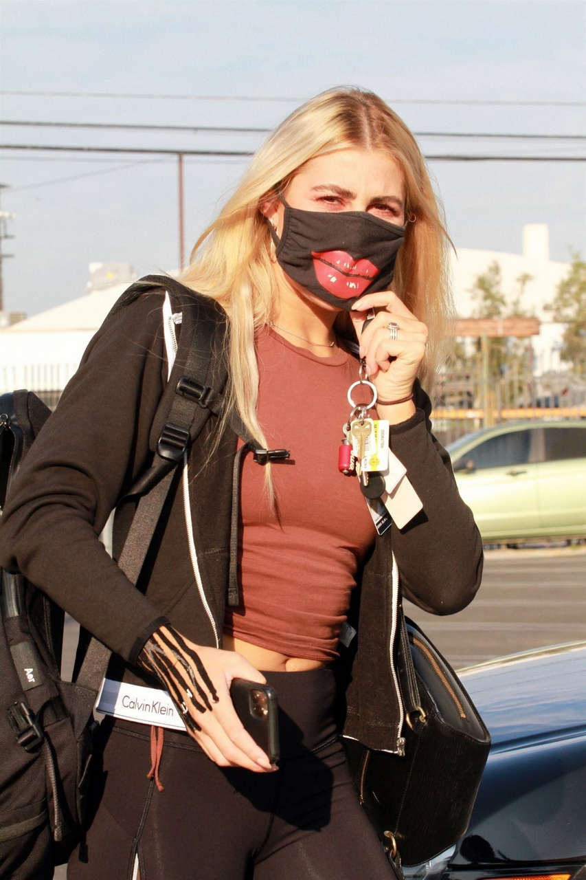 Emma Slater Arrives Dwts Rehersal Los Angeles