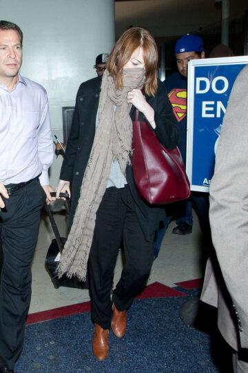 Emma Stone Los Angeles International Airport