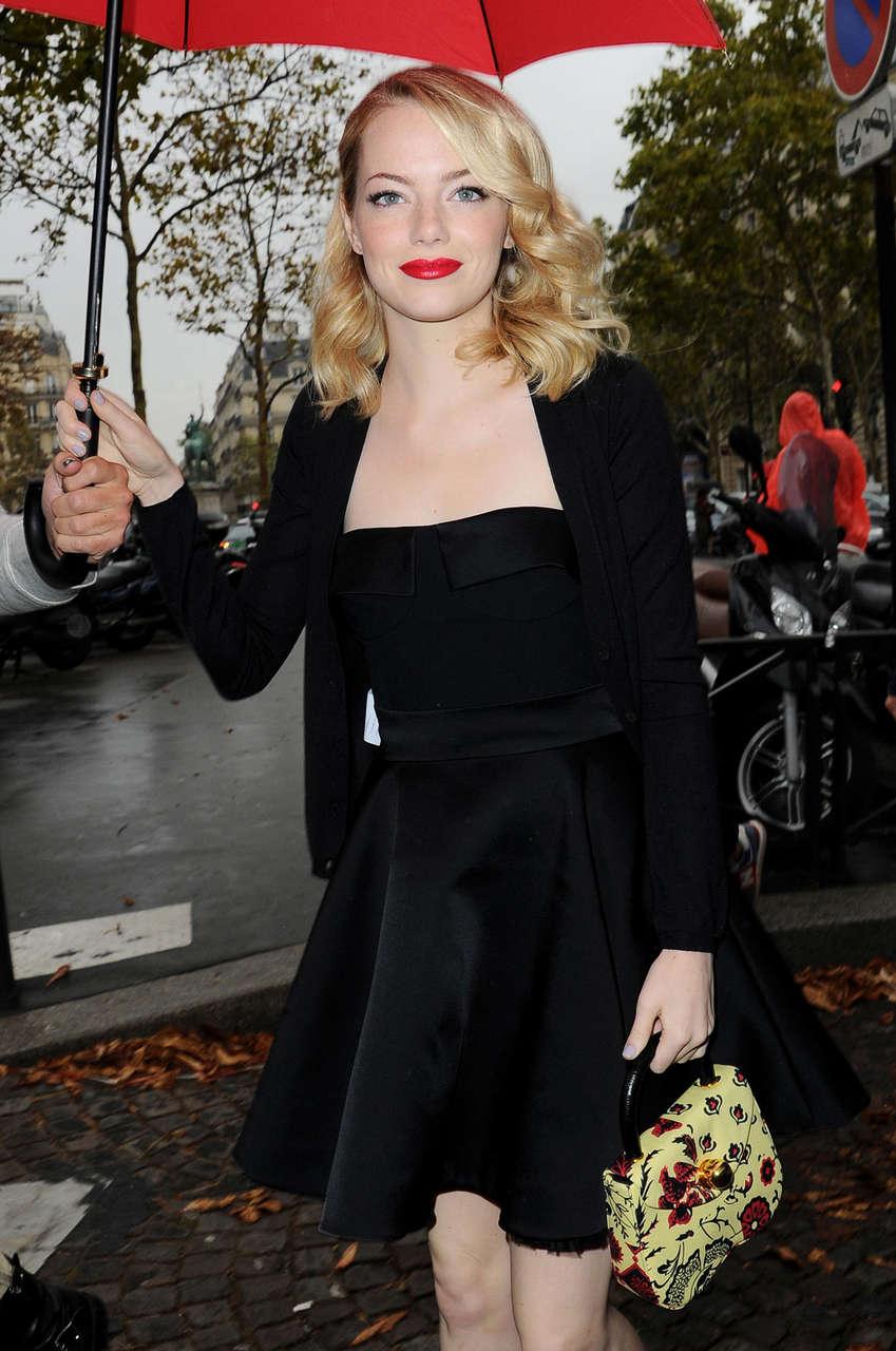 Emma Stone Miu Miu Fashion Show Paris
