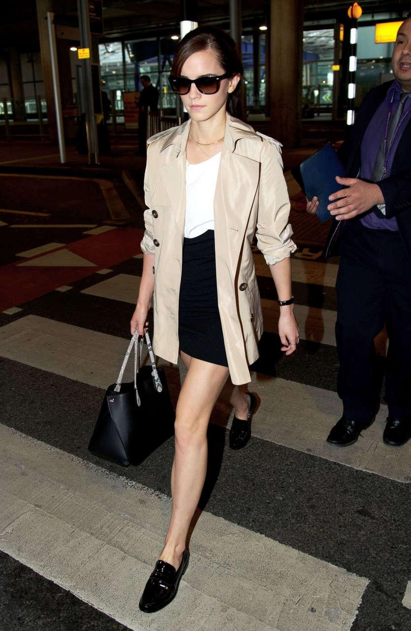 Emma Watson Arrives Heathrow Airport London