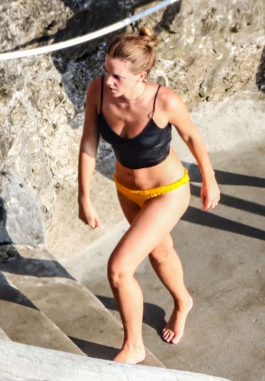 Emma Watson Bikini Beach Italy