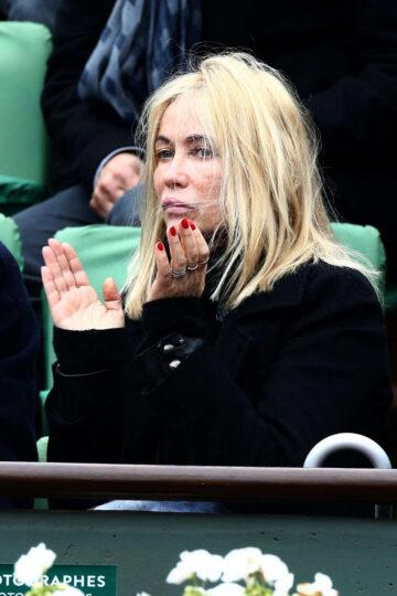 Emmanuelle Beart French Open Roland Garros Arena Paris