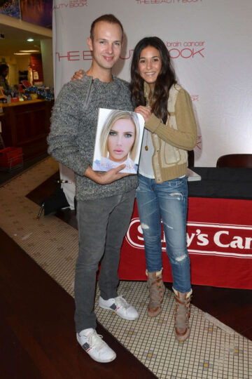 Emmanuelle Chriqui Beauty Book For Brain Cancer Book Signing Los Angeles
