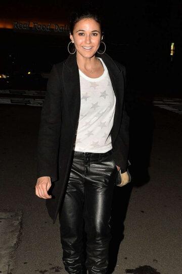 Emmanuelle Chriqui Leaves Club West Hollywood
