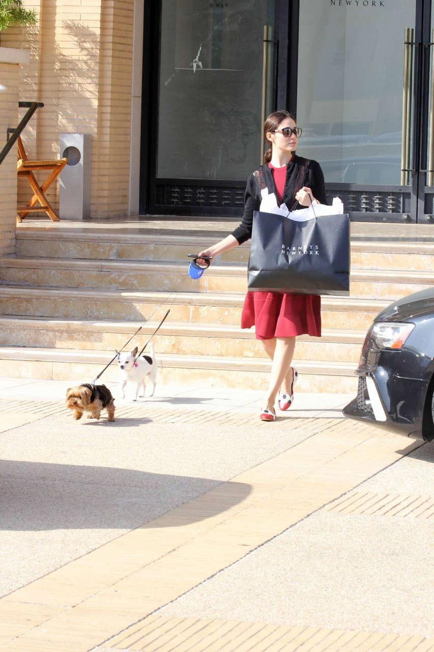 Emmy Rossum Barneys New York Beverly Hills
