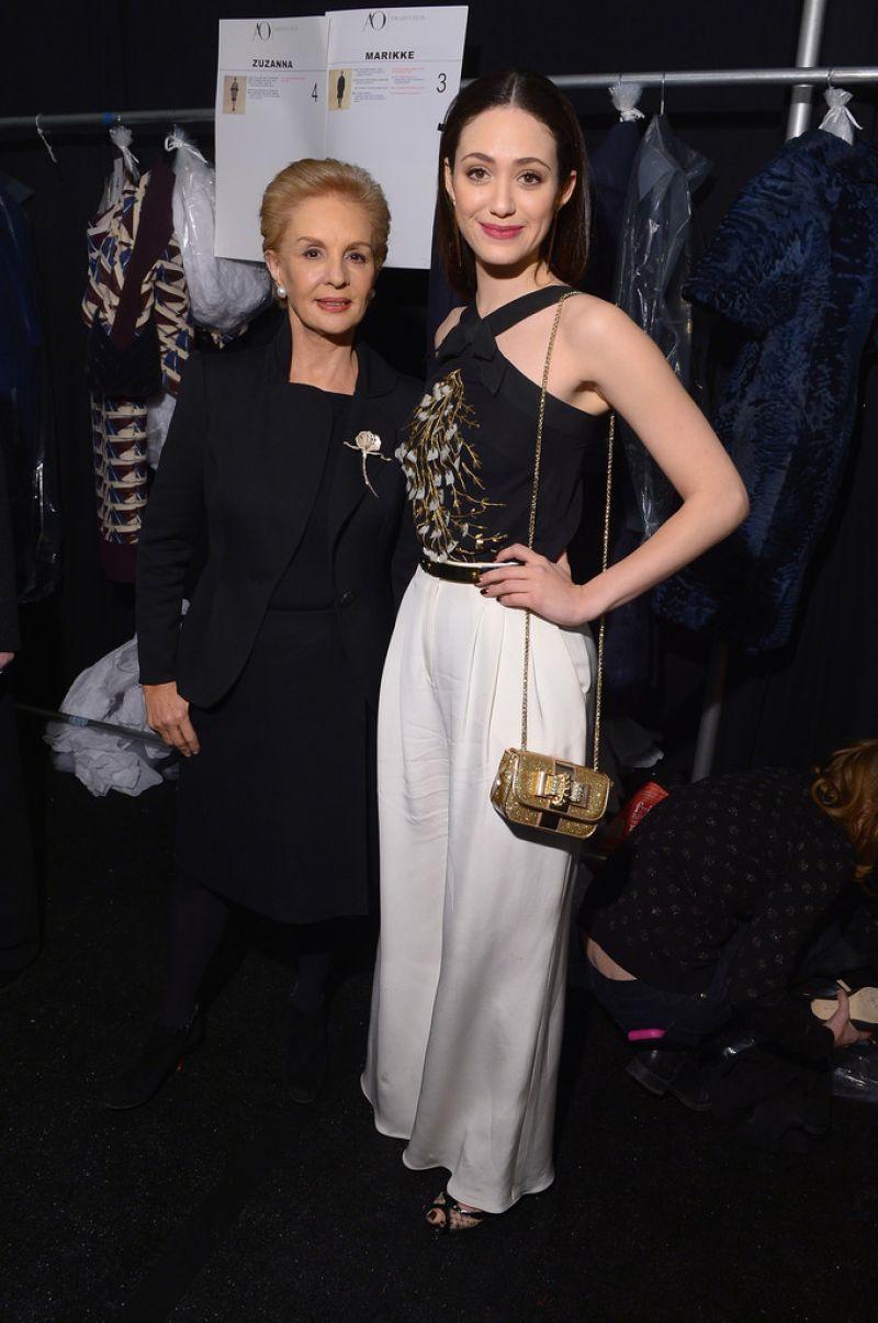 Emmy Rossum Carolina Herrera Fashion Show New York