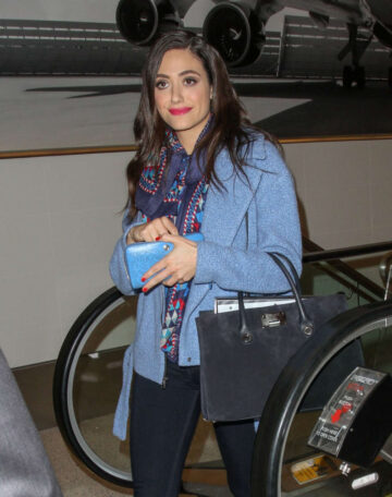 Emmy Rossum Catching Flight Lax Airport Los Angeles