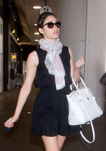 Emmy Rossum Lax Airport Los Angeles