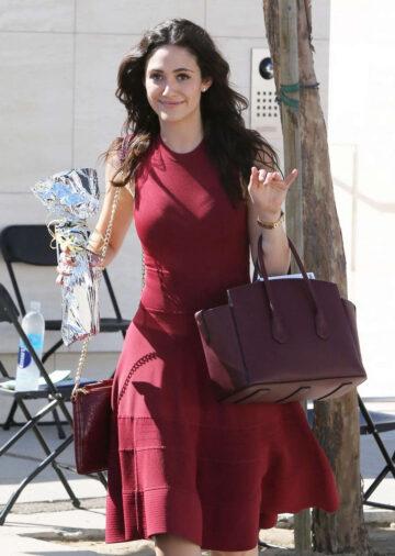 Emmy Rossum Leaves Birthday Party Milk Studios Hollywood