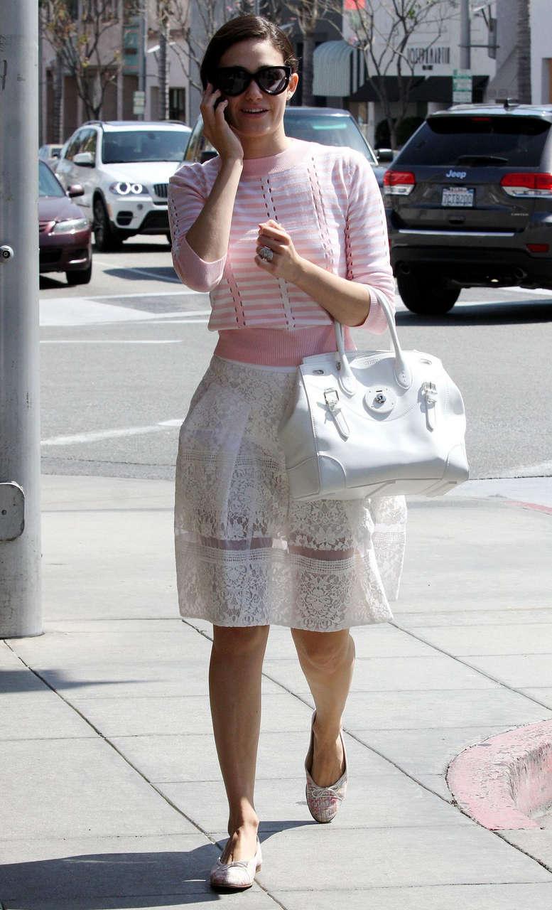 Emmy Rossum Leaves Nine Zero One Salon West Hollywood