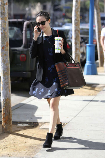 Emmy Rossum Mini Dress Out About Los Angeles