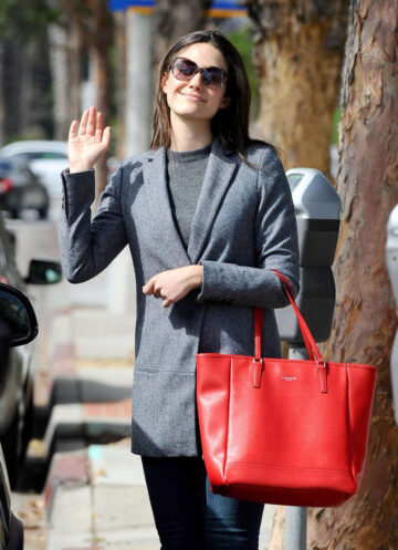Emmy Rossum Out About Santa Monica