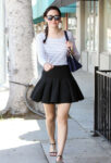 Emmy Rossum Short Skirt Out About Beverly Hills