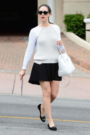 Emmy Rossum Short Skirt Out West Hollywood