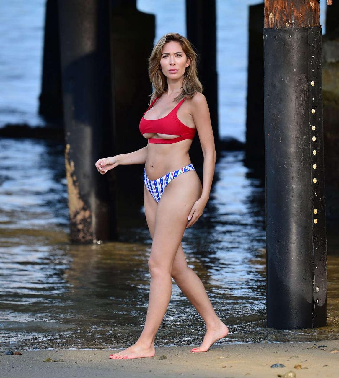 Farrah Abraham Bikini Beach Catalina Island