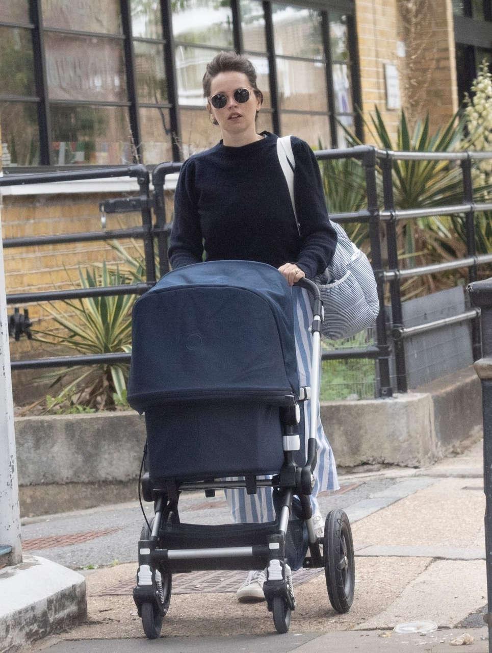 Felicity Jones Out About London