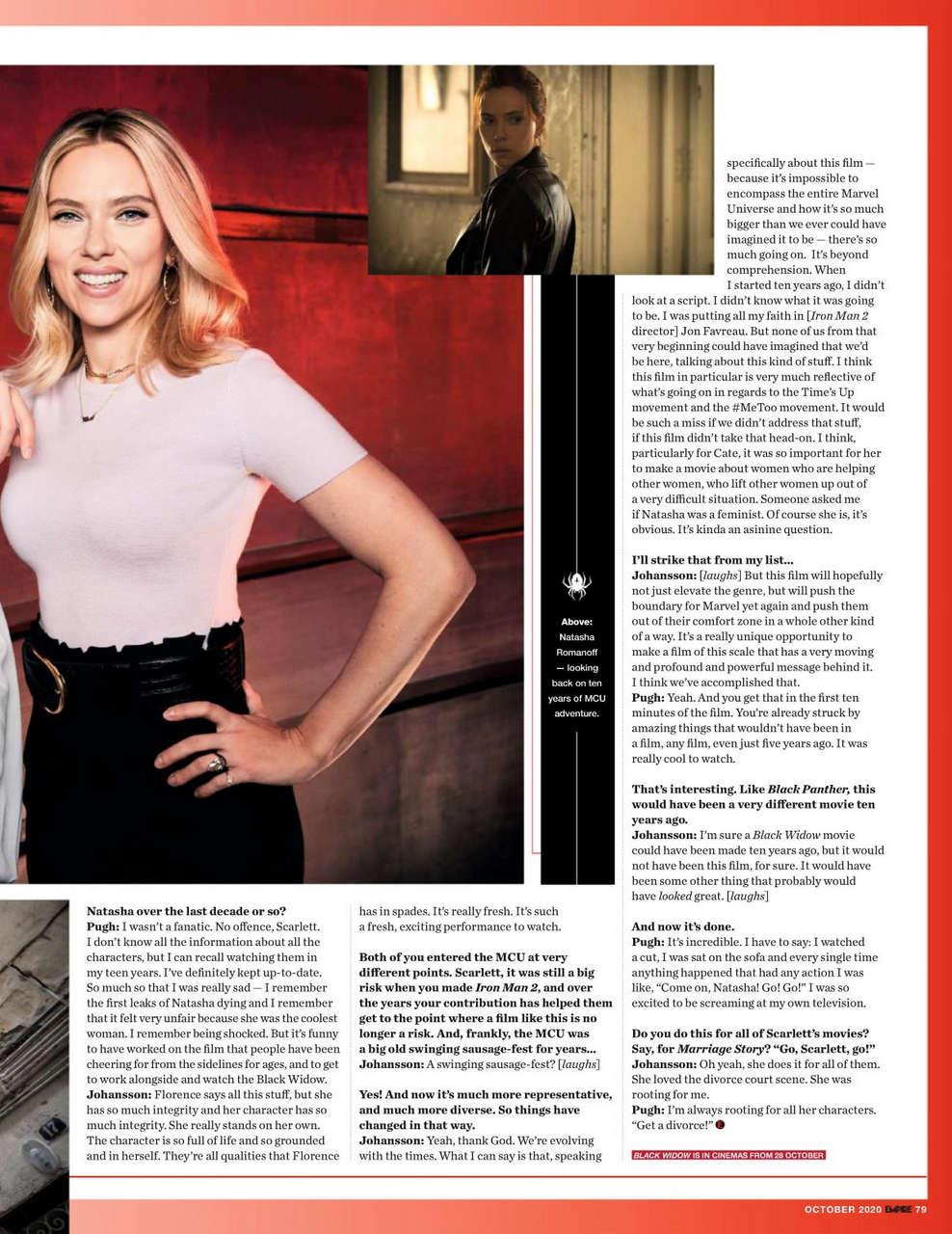 Florence Pugh Scarlett Johansson Empire Magazine October