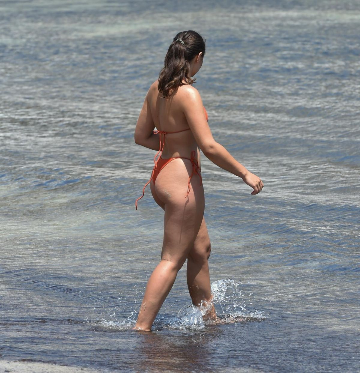 Francesca Allen Bikini Beach France