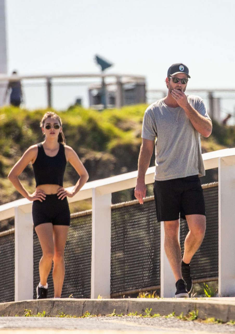 Gabriella Brooks Liam Hemsworth Out Hiking Byron Bay
