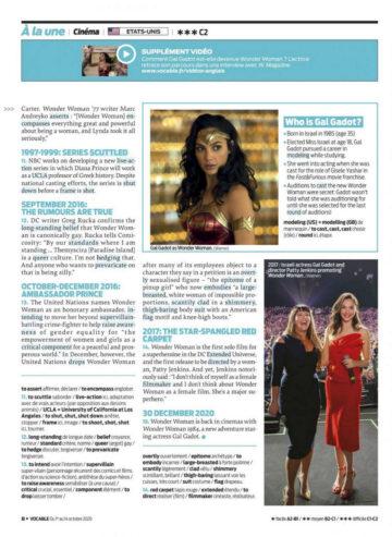 Gal Gadot Vocable Anglais Magazine October