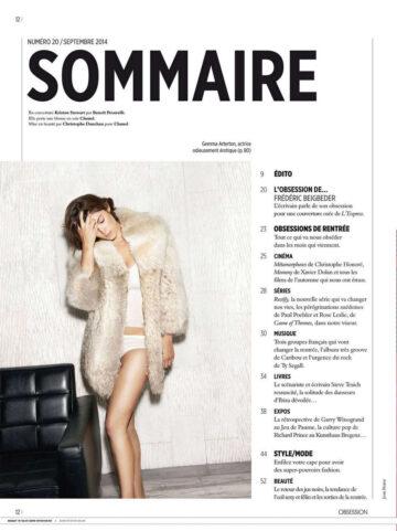 Gemma Arerton Obsession Magazine September 2014 Issue