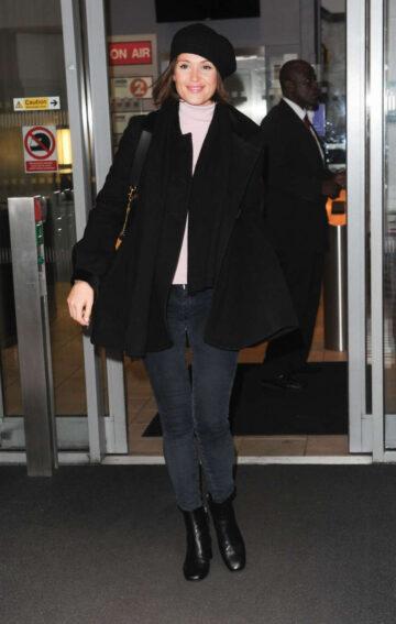 Gemma Arterton Leaves Bbc Radio 2 Studios London
