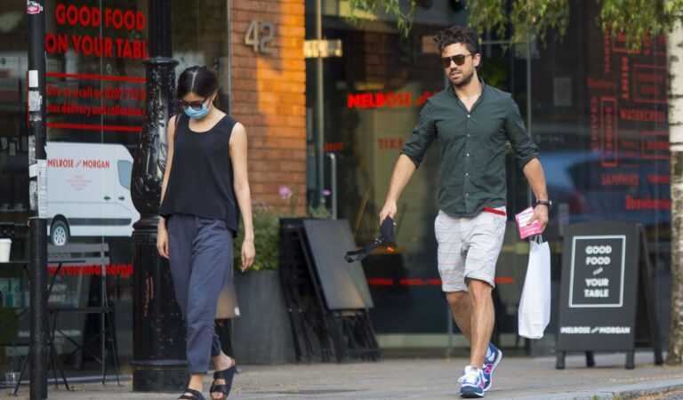 Gemma Chan Dominic Cooper Out Shopping London (7 photos)