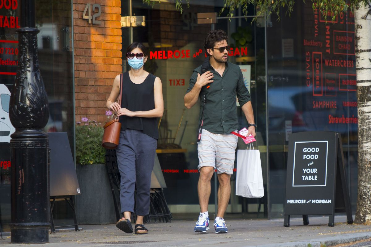 Gemma Chan Dominic Cooper Out Shopping London