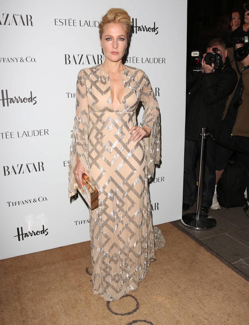 Gillian Anderson 2012 Harpers Bazaar Women Year Awards London