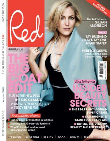 Gillian Anderson Red Magazine November 2014 Issue