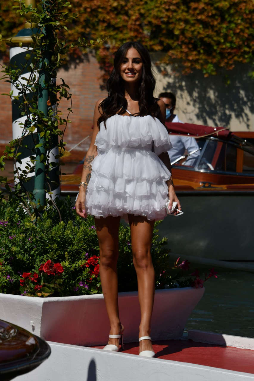 Giulia De Lellis Arrives Hotel Excelsior 77th Venice Film Festival
