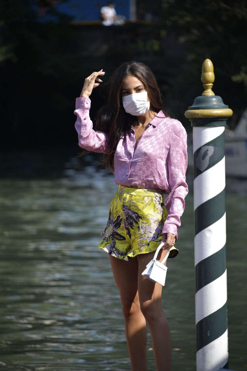 Giulia De Lellis Arrives Hotel Excelsior Venice
