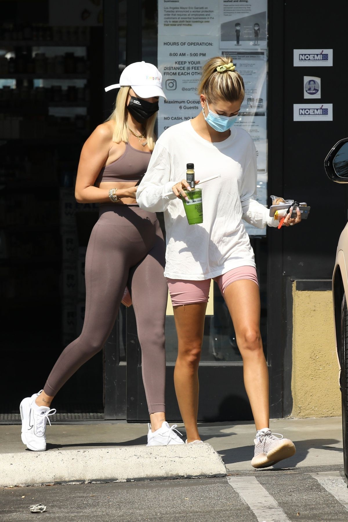 Hailey Bieber Earth Bar West Hollywood