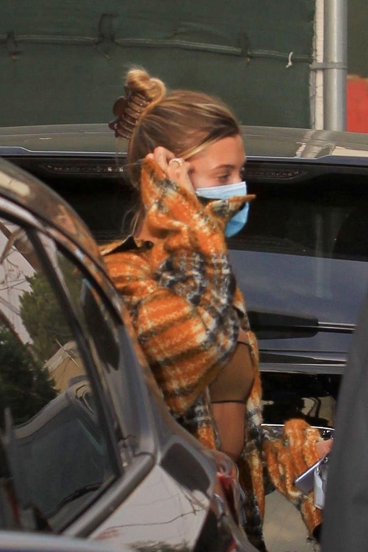 Hailey Bieber Leaves Studio Los Angeles