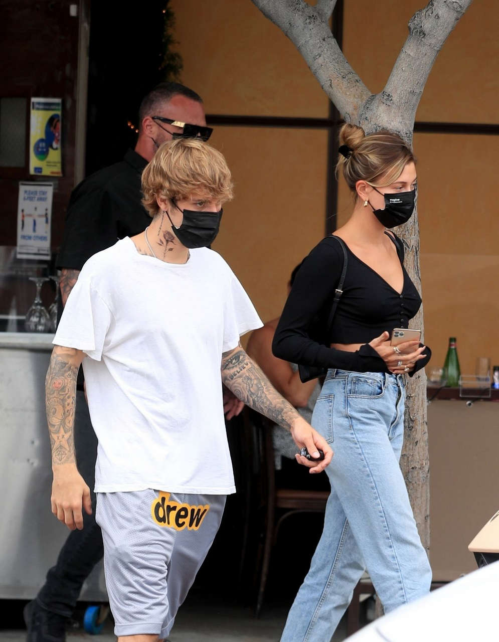Hailey Justin Bieber Il Pastaio Beverly Hills