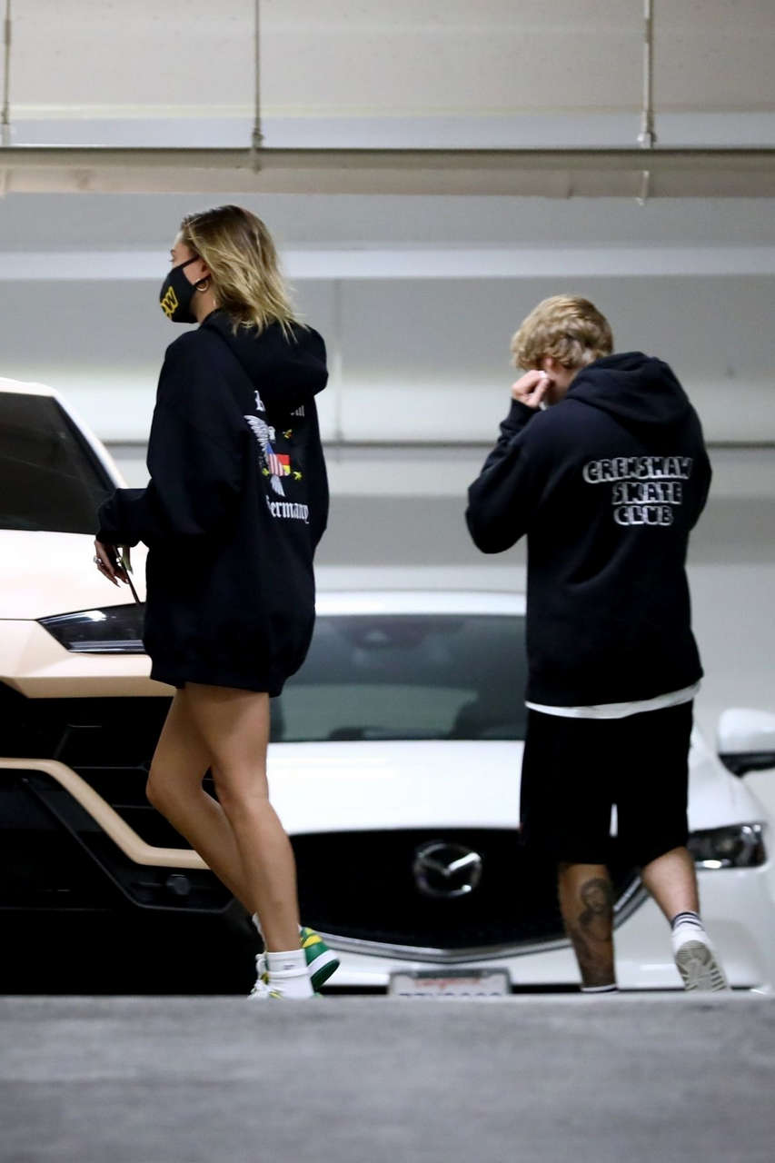 Hailey Justin Bieber Leaves Chiropractor Appointment Beverly Hills