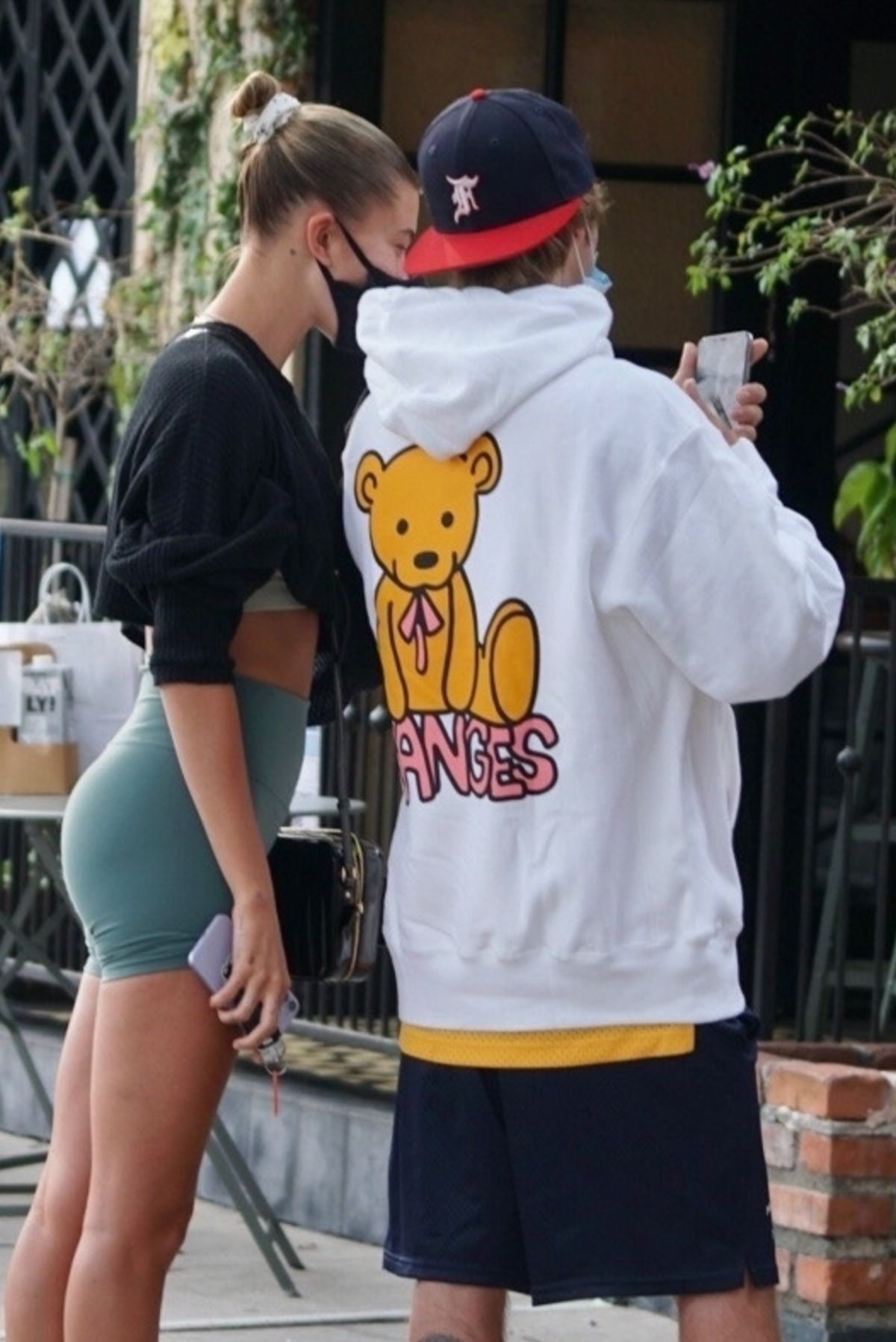 Hailey Justin Bieber Waiting Line For Table West Hollywood