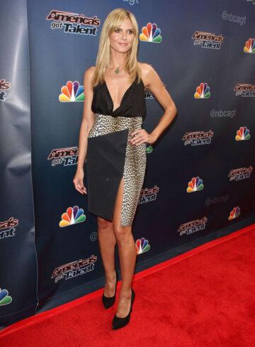 Heidi Klum Americas Got Talent Red Carpet Event Los Angeles