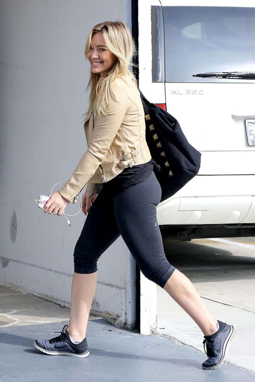 Hilary Duff Arrives Gym Class West Hollywood