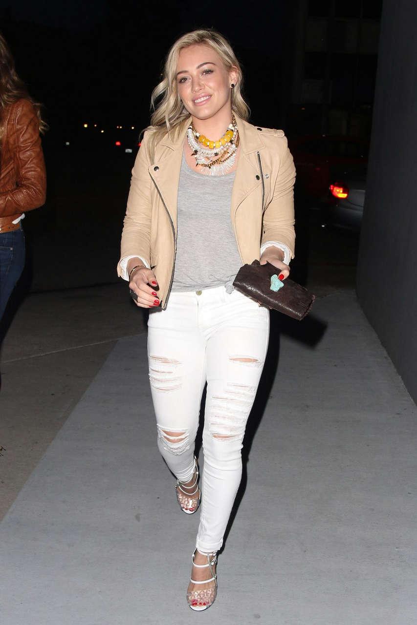 Hilary Duff Crossroads Resturant Los Angeles