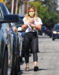 Hilary Duff Leaves Starbucks Malibu