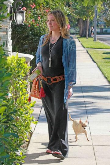 Hilary Duff Take Walk Toluca Lake