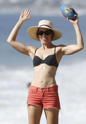 Hilary Swank Bikini Top Beach Malibu